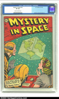 Golden Age (1938-1955):Science Fiction, Mystery in Space #22 (DC, 1954) CGC VF 8.0 Cream to off-whitepages. Infantino, Kane and Sy Barry art. Overstreet 2002 VF 8....