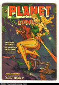 Golden Age (1938-1955):Science Fiction, Planet Comics #66 (Fiction House, 1952) Condition: GD/VG. JoeDoolin cover and art. Palais and Saaf art. Overstreet 2002 GD ...