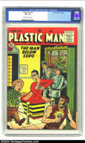 Golden Age (1938-1955):Superhero, Plastic Man #55 (Quality, 1955) CGC FN+ 6.5 Off-white to white pages. Golden Age Plastic Man. Overstreet 2002 FN 6.0 value =...