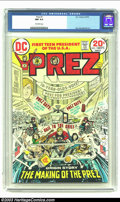 Bronze Age (1970-1979):Miscellaneous, Prez #1 (DC, 1973) CGC NM 9.4 Off-white pages. Jerry Grandenettiart. Overstreet 2002 NM 9.4 value = $25. From the collect...