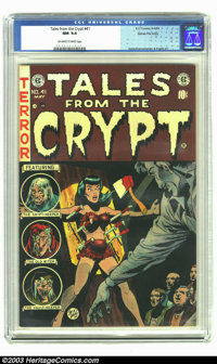 Tales From the Crypt #41 Gaines File pedigree Certificate Missing (EC, 1954) CGC NM 9.4 Off-white to white pages. Most a...