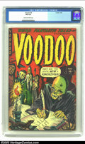 Golden Age (1938-1955):Horror, Voodoo #4 (Farrell, 1952) CGC FN 6.0 Cream to off-white pages.Classic Golden Age horror comic. Overstreet 2002 FN 6.0 value...