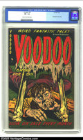 Golden Age (1938-1955):Horror, Voodoo #5 (Farrell, 1953) CGC VF- 7.5 Cream to off-white pages.Nazi death camp story; flaying alive; horror. Overstreet 200...