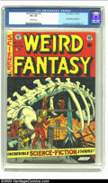 Golden Age (1938-1955):Science Fiction, Weird Fantasy #22 (EC, 1953) CGC VF+ 8.5 Off-white pages. RayBradbury adaptation; Crandall, Kamen and Krigstein art. Overst...