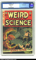 Golden Age (1938-1955):Science Fiction, Weird Science #21 Gaines File pedigree 4/11 (EC, 1953) CGC VF/NM9.0 White pages. Wood, Frazetta and Williamson art; Gaines ...