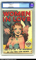 Golden Age (1938-1955):Romance, Women in Love #1 (Fox Features Syndicate, 1949) CGC FN- 5.5 Creamto off-white pages. Overstreet 2002 FN 6.0 value = $93. ...