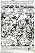 "Original Comic Art:Splash Pages, John Buscema and Ernie Chan - Original Splash Page Art from Conanthe Barbarian #102, ""The Men Who Drink Blood"" (Marvel, 1979)...."