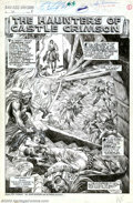 "Original Comic Art:Splash Pages, John Buscema and Alfredo Alcala - Original Splash Page Art forSavage Sword of Conan #12, ""The Haunting of Castle Crimson"" (Ma..."