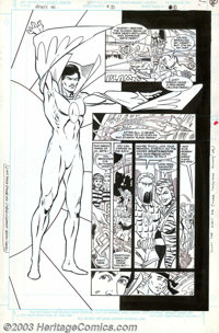 Todd McFarlane and Tony DeZuniga - Original Art for Infinity, Inc. #35, page 8 (DC, 1986). Even though one half of the p...