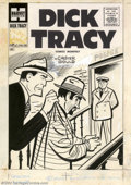 Original Comic Art:Covers, Unknown artist - Original Cover Art for Dick Tracy #96 (Harvey,1957). Chester Gould's ground-breaking comic strip series wa...