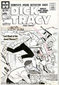 Original Comic Art:Covers, Unknown artist - Original Cover Art for Dick Tracy #134 (Harvey,1958). The world's most famous detective, Dick Tracy, faces...