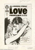 Original Comic Art:Covers, Unknown artist - Original Cover Art for True Love Problems #43(Harvey, 1956). This spectacular cover by an unknown, but hig...