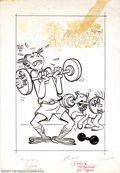 Original Comic Art:Covers, Unknown Artist - Original Cover Art for Dagwood #45 (Harvey,1950s). Is Daisy really stronger than Dagwood? Wouldn't surpris...