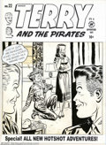 Original Comic Art:Covers, Unknown artist - Original Cover Art for Terry and the Pirates #22(Harvey, 1950). Milton Caniff's Terry and the Pirates ente...