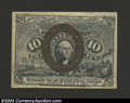 """Fractional Currency:Second Issue, Second Issue 10c, Fr-1245, Choice CU. This variety with """"18-..."""