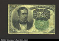 Fractional Currency:Fifth Issue, Fifth Issue 10c, Fr-1264, VF. This is the much scarcer green ...