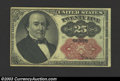 Fractional Currency:Fifth Issue, Fifth Issue 25c, Fr-1309, AU. This short key Walker note has ...