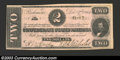 Confederate Notes:1862 Issues, 1862 $2 Judah P. Benjamin, T-54, Choice About Uncirculated. A ...