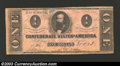 Confederate Notes:1862 Issues, 1862 $1 Clement C. Clay, T-55, Fine. A small piece is missing ...