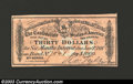 Confederate Notes:Group Lots, 1864 $30 Confederate Bond Coupon, Crisp Uncirculated....