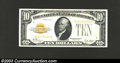Small Size:Gold Certificates, 1928 $10 Gold Certificate, Fr-2400, VF+. This is a very ...