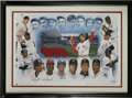 """Baseball Collectibles:Others, 3,000 Hit Club Multi-Signed Lithograph. This brilliantlimited-edition (""""123/285"""") lithograph features the members of thei..."""