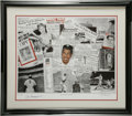 "Baseball Collectibles:Others, Joe DiMaggio Signed Lithograph. This fabulous lithograph from theart of Robert Stephen Simon is entitled ""Joe DiMaggio Leg..."