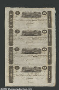 Obsoletes By State:Ohio, 18-- Uncut Sheet $1-$2-$3-$5 Post Notes, Cincinnati, OH, CU. A ...