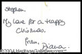 Autographs, Princess Diana Signed Note Card