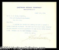 Autographs, George Eastman Scarce Signed Letter