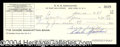 Autographs, Carlo Gambino Signed Bank Check