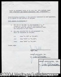 Autographs, Jim Henson Signed Document