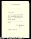 Autographs, George Marshall Signed Letter to Cordell Hull
