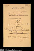 Autographs, Napoleon Signed Document c. 1873