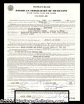 Autographs, Jack Ruby Rare Signed Document