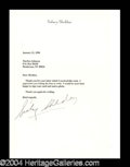 Autographs, Sidney Sheldon Typed Letter Signed