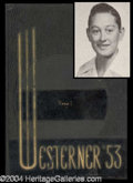 Autographs, Buddy Holly 1953 High School Yearbook
