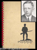 Autographs, Charles Schulz Rare 1940 High School Yearbook