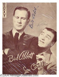 Autographs, Abbott & Costello Vintage Signed Program