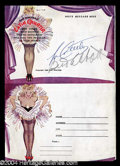 Autographs, Abbott & Costello Signed Burlesque Program