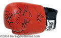 Autographs, Ali The Movie Cast Signed Glove