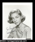 Autographs, Lauren Bacall Signed 8 x 10 Photo