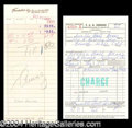 Autographs, Lucy & Desi Signed Receipt Lot