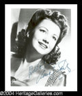 Autographs, Anne Baxter Signed 8 x 10 Photo
