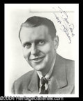 Autographs, Ralph Bellamy Signed Photo