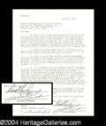 Autographs, Rare Signed Bonanza Document w/ Landon & Blocker