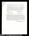 Autographs, George Burns Important Signed Document