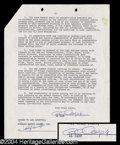 Autographs, Al Capp Signed Document