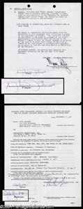 Autographs, Charlie's Angels Signed Contract Lot!