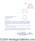 Autographs, Maurice Chevalier Typed Letter Signed